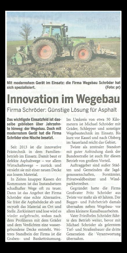 Artikel in der Waldeckischen Landeszeitung Wirtschaftsstandort Twiste vom Mittwoch, 18. März 2015
